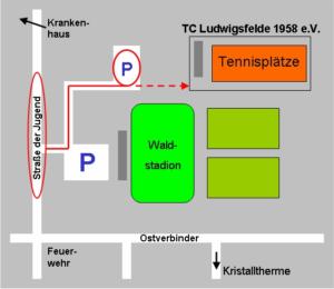 Skizze Anfahrt Schulungsraum Ludwigsfelde